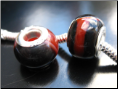 Black and Red Agate Bead