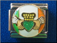 Irish Flag Claddagh   green heart