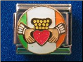 Irish Flag Claddagh   red heart