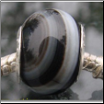 Black Ghost Agate Natural Stone Bead
