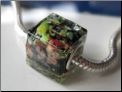 Black Forest Glass Cube Bead