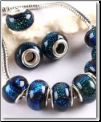 Blue Diachroic Glass Bead