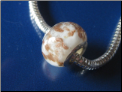 Caramel Cream Glass Bead