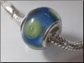Blue Sky Green Earth Glass Bead