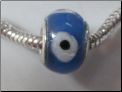 Blue Dot Glass Bead