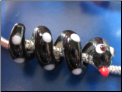 Black Snake Glass Bead