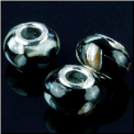 Black Shell European Bead
