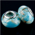 Blue Shell European Bead