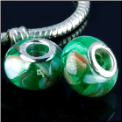 Green Shell European Bead