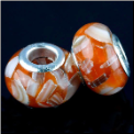 Orange Shell European Bead