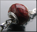 Blood Red Faceted Agate Bead