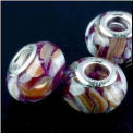 Purple Shell European Bead