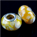 Yellow Shell European Bead