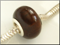 Ebony Wood European Bead
