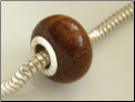 Walnut Wood European Bead