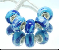 Blueberry Cream Murano Glass Bead