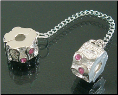 Pink CZ Clip Stopper Safety Chain for European CZ
