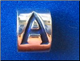 Blue LETTERS A-Z available   Sterling Bead