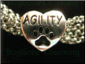 Agility Silver Heart Bead with Dog Paw