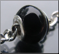 Black Agate Bead