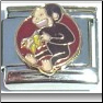Curious George monkey italian charm