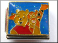 Best Friends Bear & Tiger BL Italian Charm