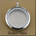 Rhodium Plated Rnd Magnetic Locket