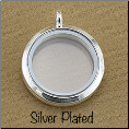 Silver Plated Rnd Magnetic Locket