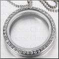 Waterproof Stainless Steel Twist Off Crystal Locket