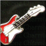 Guitar Red Alloy Floating Locket charm