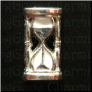 Hour Glass Sands of Time Alloy Floating Locket charm