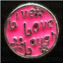 Live Love Laugh Pink Floating Locket charm