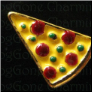 Pizza Pepperoni  Alloy  Floating Locket charm