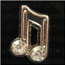 Music Note Stones  Silver Tone Alloy  Floating Locket charm