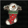 Snowman Stocking Stick hands    Alloy  Floating Locket charm