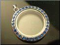 Round Sapphire Crystals Magnetic Floating Locket