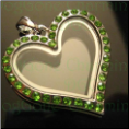 Heart August Crystals Magnetic Floating Locket