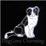 Border Collie Sitting Tail Floating Locket Charm
