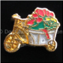 Garden Cart of Flowers Floating Locket Charm
