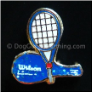 Tennis Racket and Case Blue Floating Locket Charm