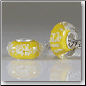 Yellow Glow in the Dark European Bead