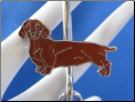 Red Dachshund Doxie Dog Key Finder