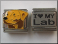 I love my Lab Dog Set of 2 Laser Italian charms