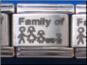 Family of 4 plus a dog Laser Italian charm
