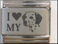 I love my Dalmation dog Laser Italian charm