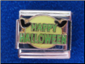 Happy Halloween Magnetic 9 MM italian charm