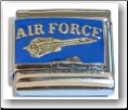 Air Force Jet Italian Charm