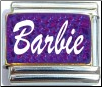 Barbie, purple Italian Charm
