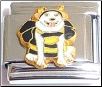 Dog in Bee Costume Halloween Italian Charm