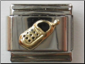 Black Cell Phone 18 kt Italian Charm